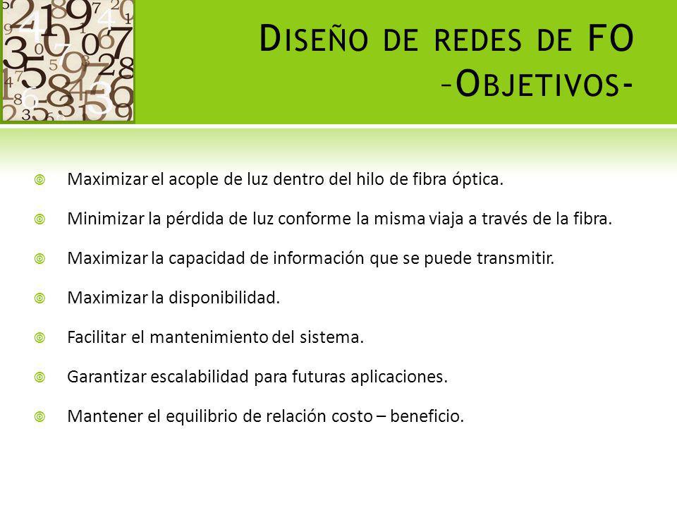 D ISEÑO DE REDES DE FO – PROCEDIMIENTO - 1.