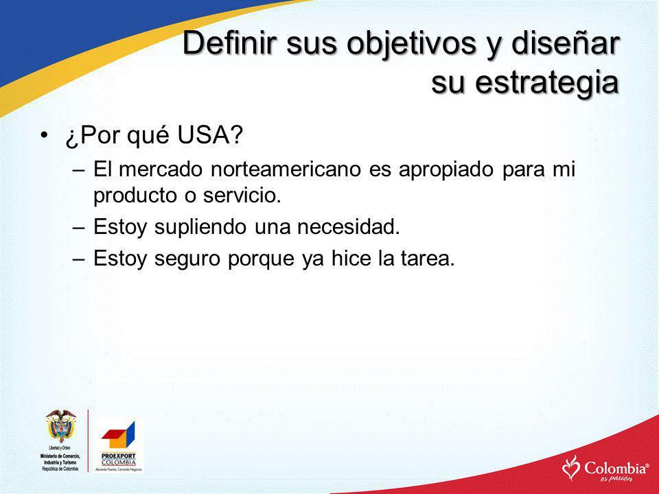 Definir sus objetivos y diseñar su estrategia ¿Dónde en USA.
