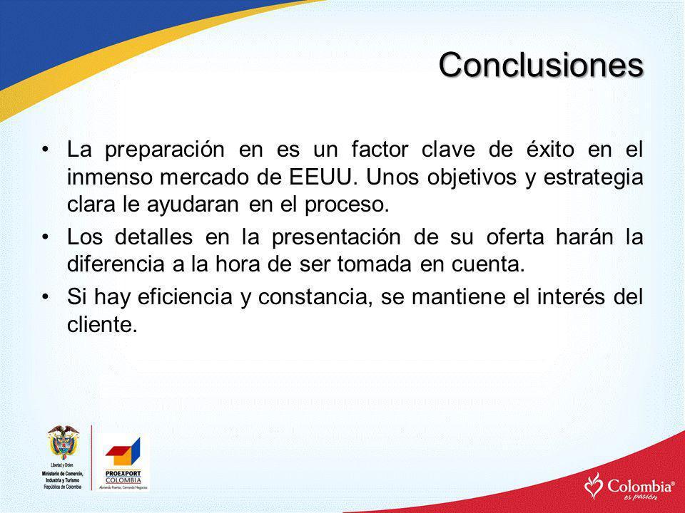 Conclusiones Ahorre dinero asegurándose de tener claras las regulaciones legales y técnicas exigidas por el mercado.