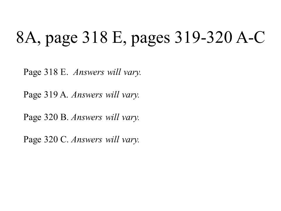 8A, page 322 A, B A.1.duerma 2. te mantengas 3. vaya 4.