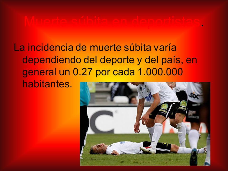No hay datos concluyentes sobre los casos de muerte súbita asociada al deporte en nuestro país.