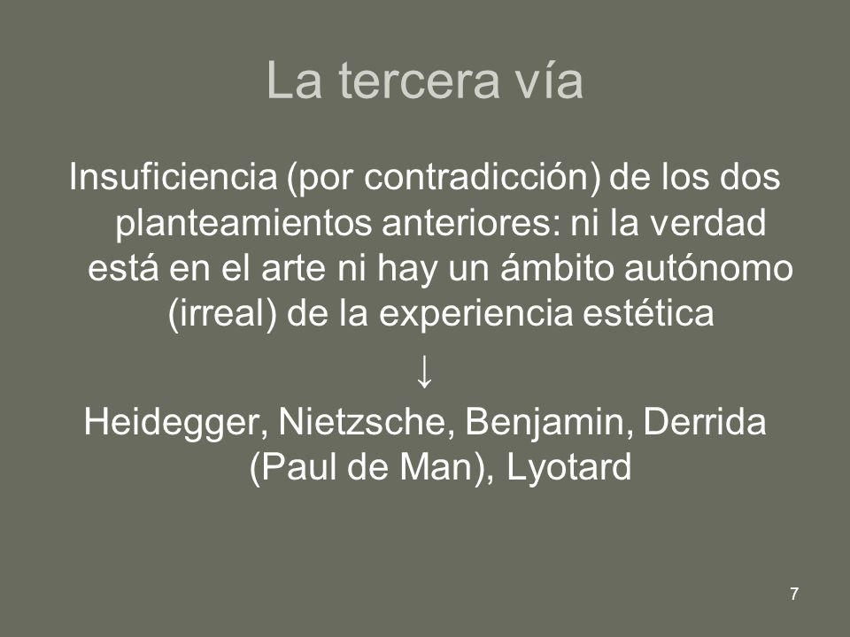 8 CONTENIDOS Introducción: las tres vías de acceso a la experiencia estética.