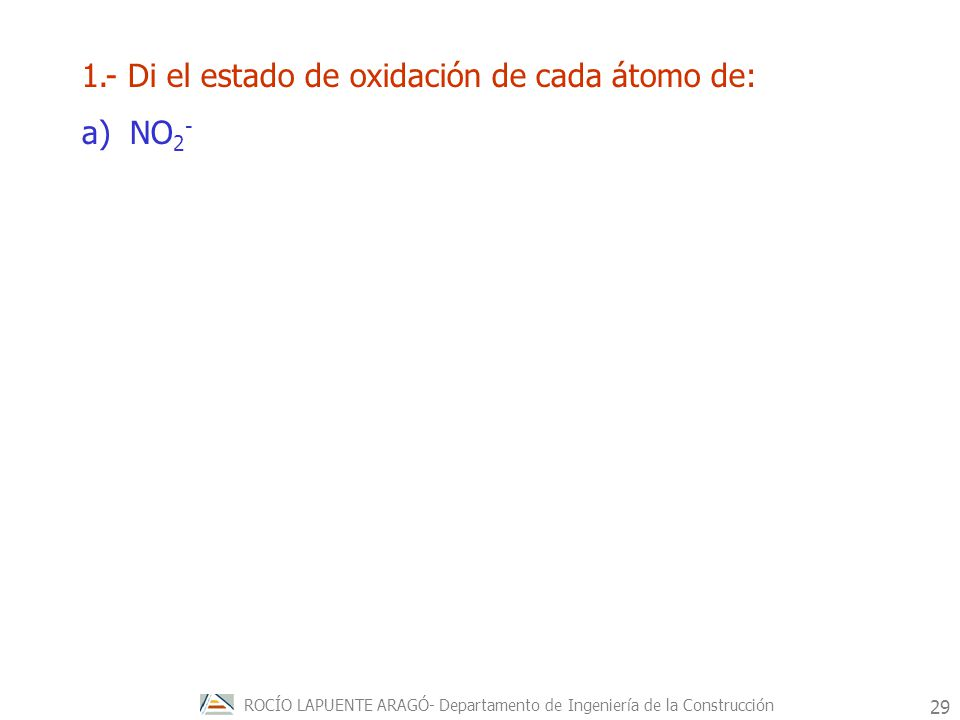 ROCÍO LAPUENTE ARAGÓ- Departamento de Ingeniería de la Construcción 30 Procesos redox espontáneos.
