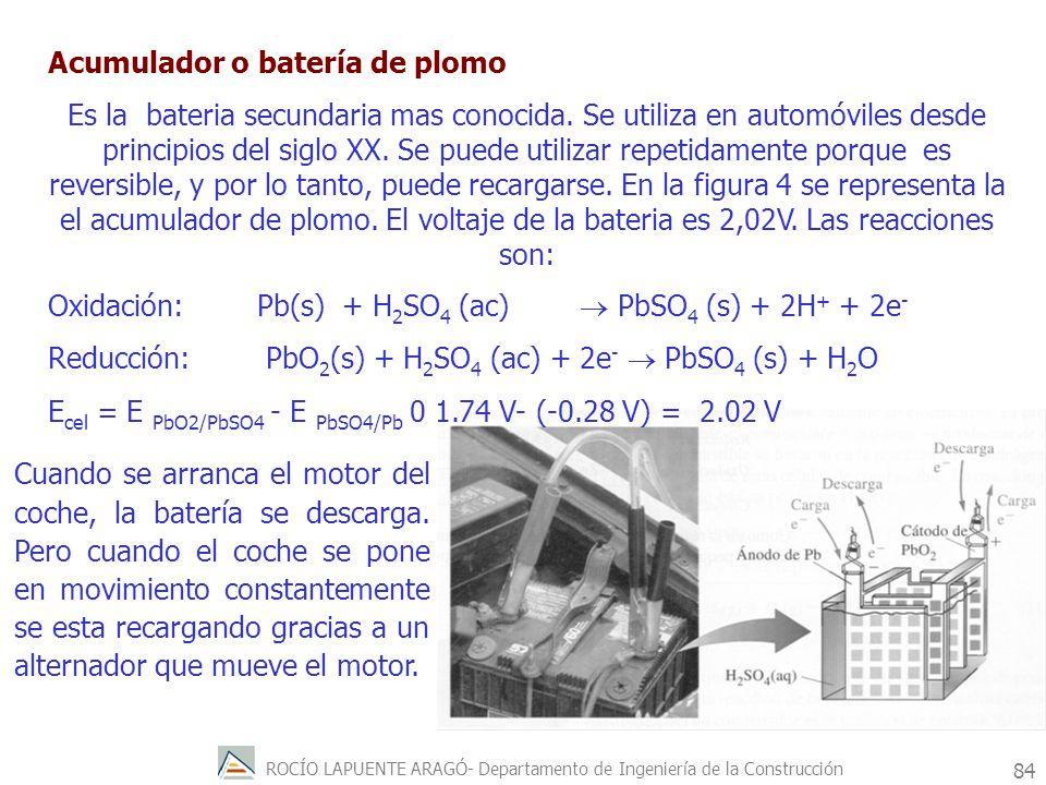 ROCÍO LAPUENTE ARAGÓ- Departamento de Ingeniería de la Construcción 85