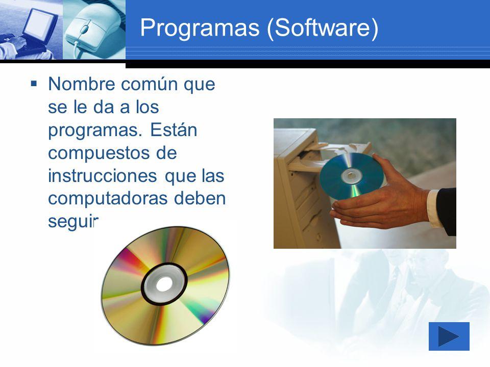 Tipos de Programas (Software) A.