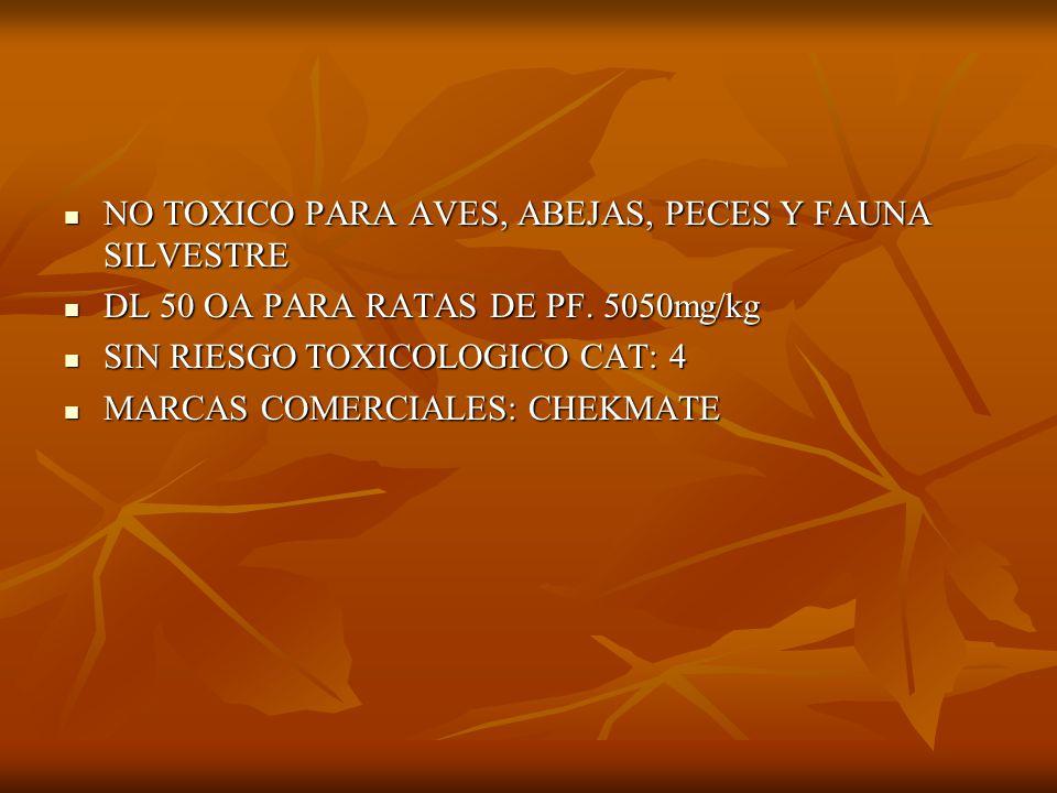 DODECADIENOL C CONTIENE ADEMAS DODECANOL Y TETRADECANOL CONTIENE ADEMAS DODECANOL Y TETRADECANOL PRODUCE CONFUSION SEXUAL PRODUCE CONFUSION SEXUAL PRINCIPIO ACTIVO CONTENIDO EN UN TUBITO DE POLIETILENO TRASLUCIDO DE 20 cm.