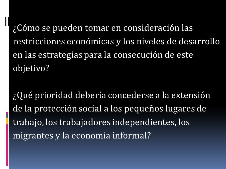 ¿Cuáles son las ventajas y las desventajas de otros métodos de financiación de la seguridad social, tomando en cuenta las diferencias en la capacidad de contribuir a los sistemas de seguro social.