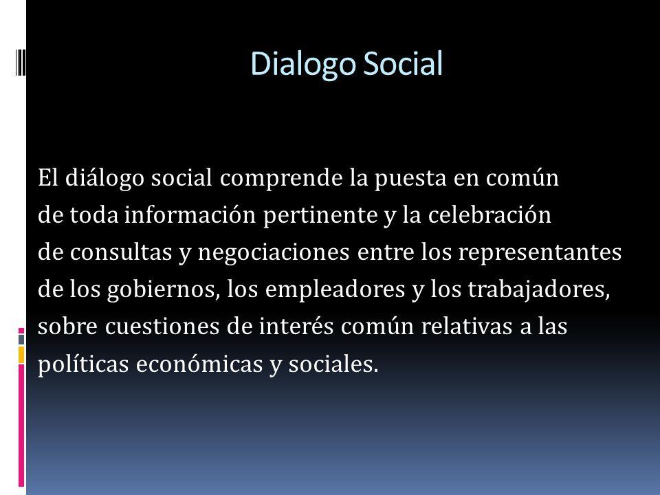El diálogo social debe entablarse en todas las etapas apropiadas del proceso de toma de decisiones, no debe ser excesivamente preceptivo, debe adaptarse a las circunstancias y debe incluir en especial a quienes resulten afectados por los cambios.