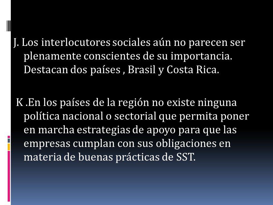 L.Tampoco se han desarrollado prácticas eficaces por parte de los actores sociales.