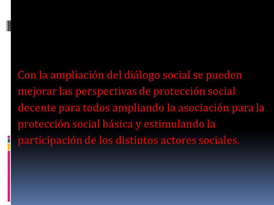 La participación y asociación de los distintos actores Sociales, es fundamental para alcanzar e incrementar la eficacia de la seguridad social y ampliar la protección social por medio de la seguridad social obligatorio.