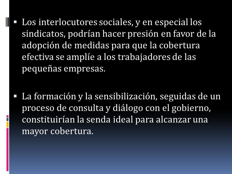 Es necesario mejorar los vínculos existentes entre el gobierno central y los gobiernos municipales, así como entre los distintos ministerios (seguridad social, trabajo, salud, hacienda, etc.).