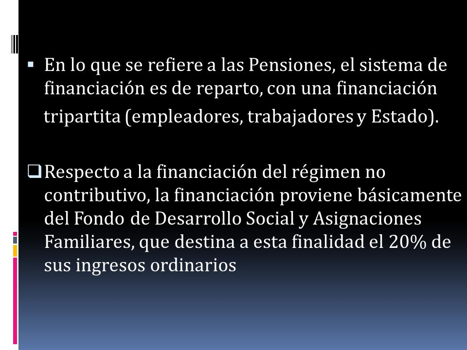 SEGURO DE VEJEZ, INVALIDEZ Y MUERTE Se inicia en 1947 y es obligatorio para los trabajadores por cuenta ajena y recientemente también para los trabajadores por cuenta propia.