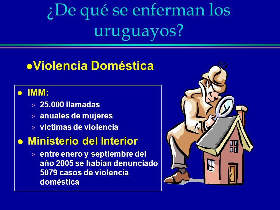 ¿De qué se enferman los uruguayos.