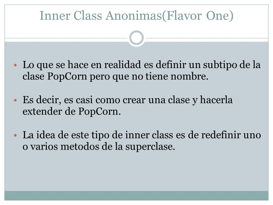 Inner Class Anonimas(Flavor One) Exam Watch .The closing semicolon is hard to spot.