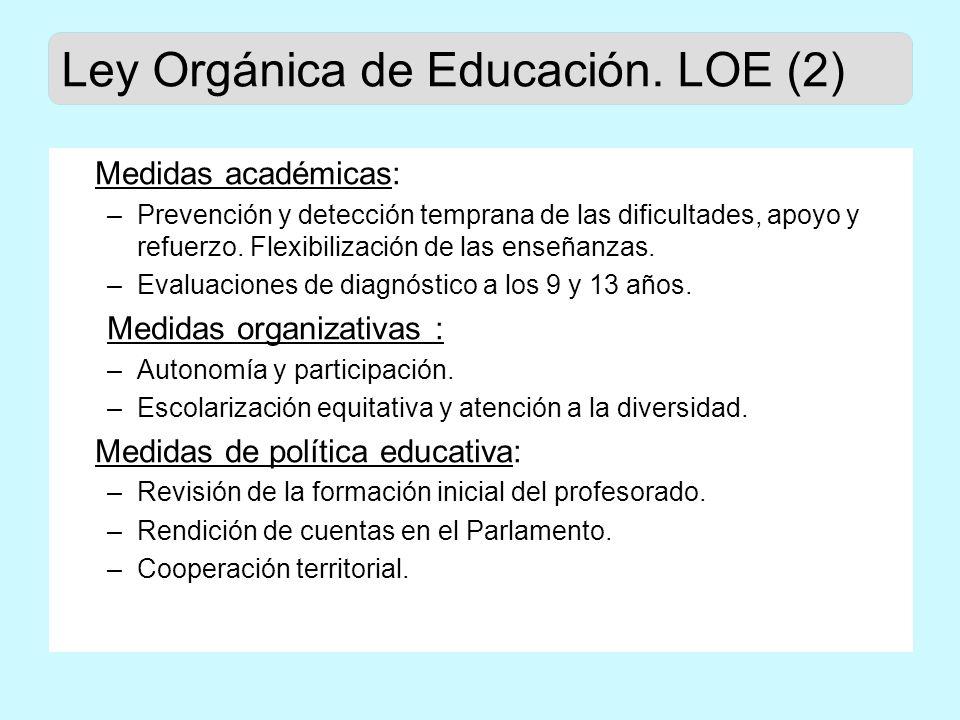 Evaluaciones generales de diagnóstico Artículo 144 de la Ley Orgánica de Educación