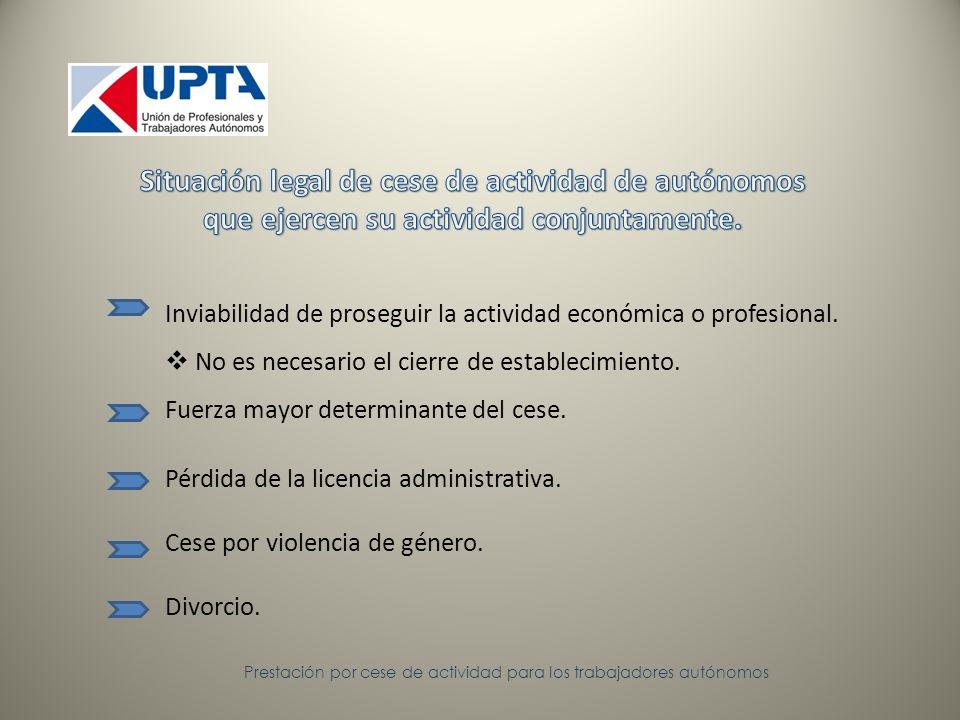 Prestación por cese de actividad para los trabajadores autónomos Motivos económicos: declaración jurada y documentación contable, fiscal, administrativa o judicial.