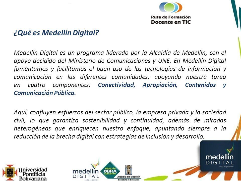 Medellín Digital cuenta con 4 portales: Cultura (http://www.medellincultura.gov.co)http://www.medellincultura.gov.co Cultura E (http://www.culturaemedellin.gov.co)http://www.culturaemedellin.gov.co Red de Bibliotecas (http://www.reddebibliotecas.org.co)http://www.reddebibliotecas.org.co Educación (http://www.medellin.edu.co)http://www.medellin.edu.co