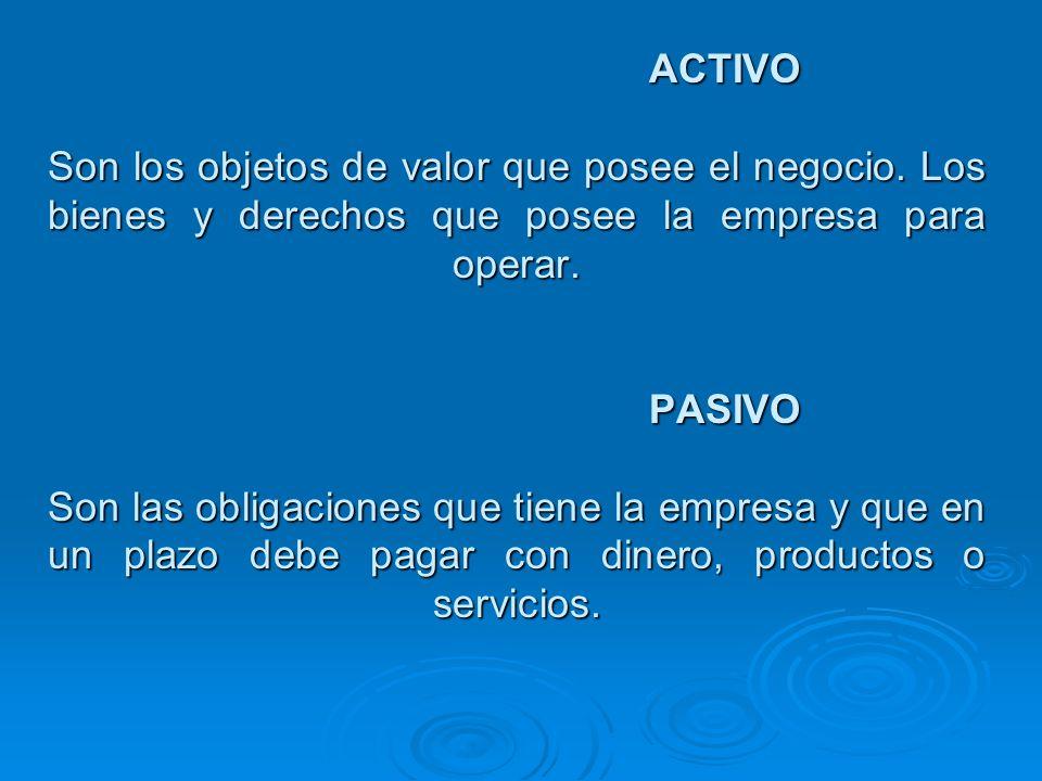 CLASES DE ACTIVOS ACTIVO CORRIENTE O A CORTO PLAZO Activo circulante o disponible -CAJA ( dinero en efectivo) -FONDOS FIJOS ( caja chica) -Remesas en transito -Cuentas corrientes Activo exigible.