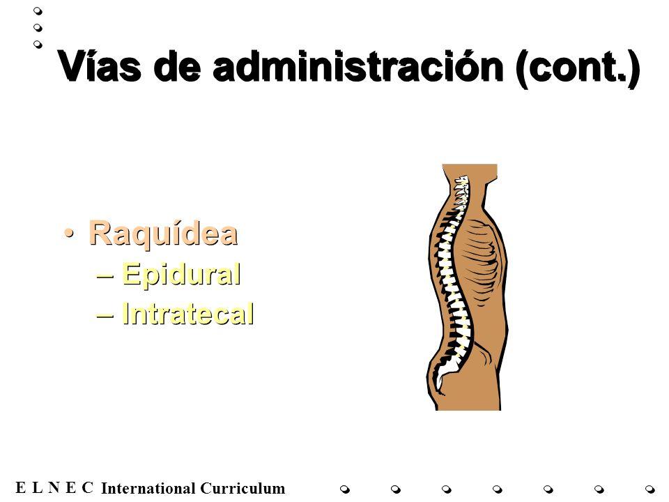 ENECL International Curriculum OMS – Escalera de tres pasos de los analgésicos para el control del dolor Paso 1: Dolor leve Paso 2: Dolor moderado Paso 3: Dolor grave Paso 1: Dolor leve Paso 2: Dolor moderado Paso 3: Dolor grave