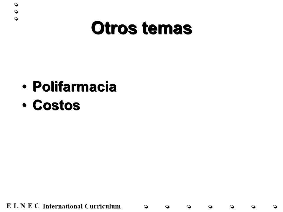 ENECL International Curriculum Terapias contra el cáncer para aliviar el dolor Radiación Cirugía Quimioterapia Terapia hormonal Otros Doyle et al., 2001; Dunn et al., 2002; Janjan et al., 2003; Jeremic, 2001 Radiación Cirugía Quimioterapia Terapia hormonal Otros Doyle et al., 2001; Dunn et al., 2002; Janjan et al., 2003; Jeremic, 2001