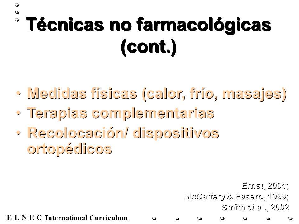 ENECL International Curriculum Dolor en el VIH Dolor abdominal Dolor de cabeza Dolor musculoesquelético Neuropatía Lesiones orales