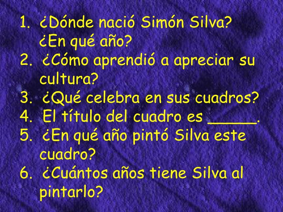 ¿Dónde nació Simón Silva? ¿En qué año? Simón Silva nació en México en 1961. Se crió en California.