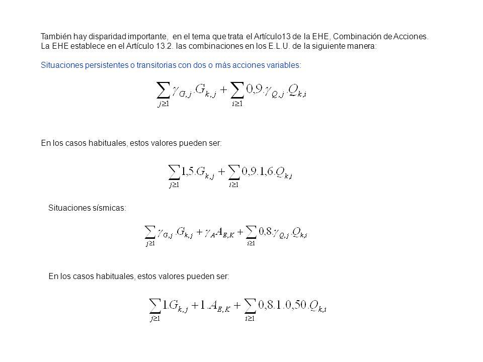 Es decir, considerando la actuación simultánea de: a) todas las acciones permanentes, en valor característico ( G k ); b) una acción variable cualquiera, en valor característico ( Q k ), debiendo adoptarse como tal una tras otra sucesivamente en distintos análisis; el resto de las acciones variables, en valor de combinación ( ψ 0 · Q k ).