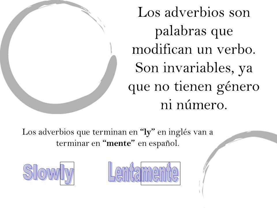 Para formar un adverbio en español: Con todas las palabras vamos a añadirmente Si es un adjetivo masqulino vamos a usar la forma feminina (solo(a), loco(a) con mente