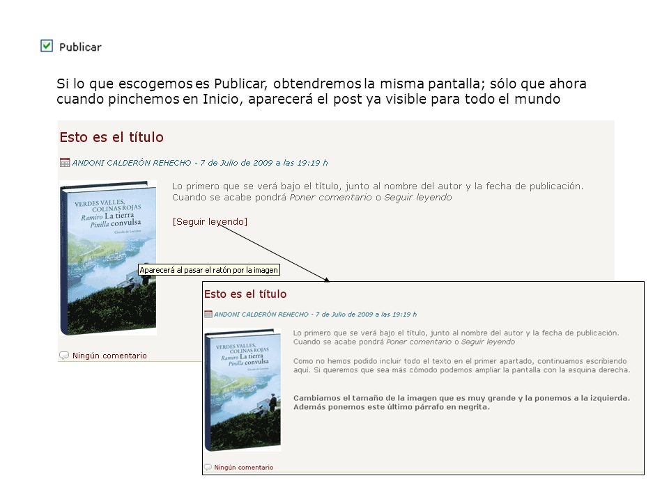 El post se adaptará a la resolución de la pantalla (y cambiará según los navegadores):