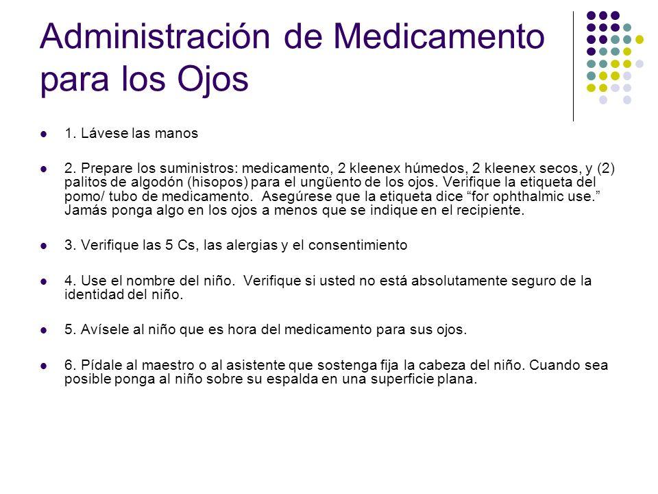 Administración de Medicamento para los Ojos 7.