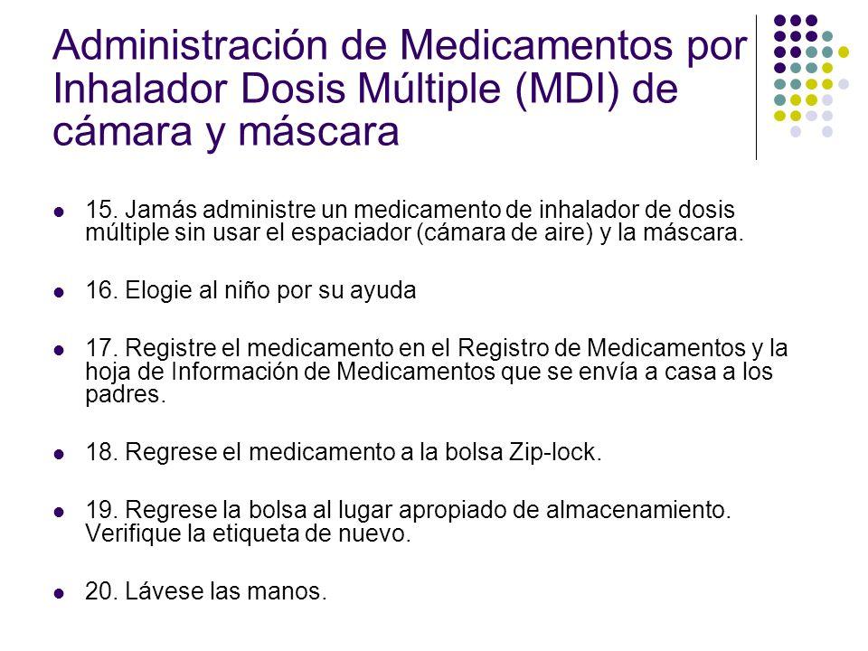 Administración de Medicamentos PRN Los medicamentos PRN son medicamentos que se dan según se necesite pero no más de cada 4-6 horas.