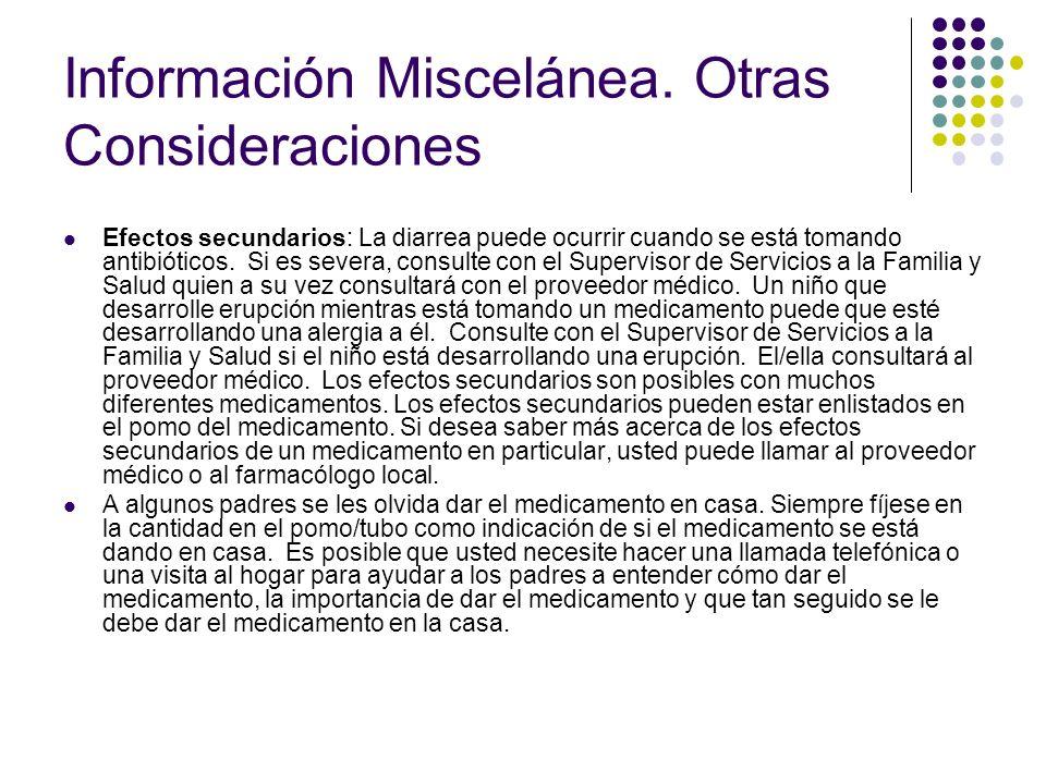 Información Miscelánea.