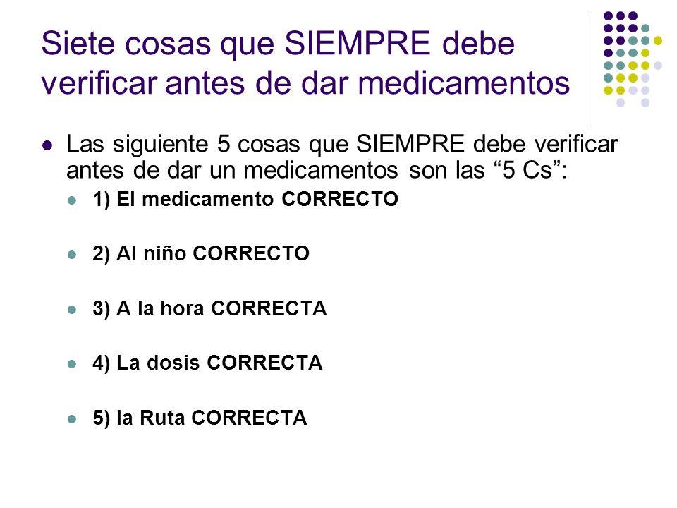 Medicamentos que más frecuentemente se administran en OCDC Antibióticos (orales): para curar infecciones bacteriales.
