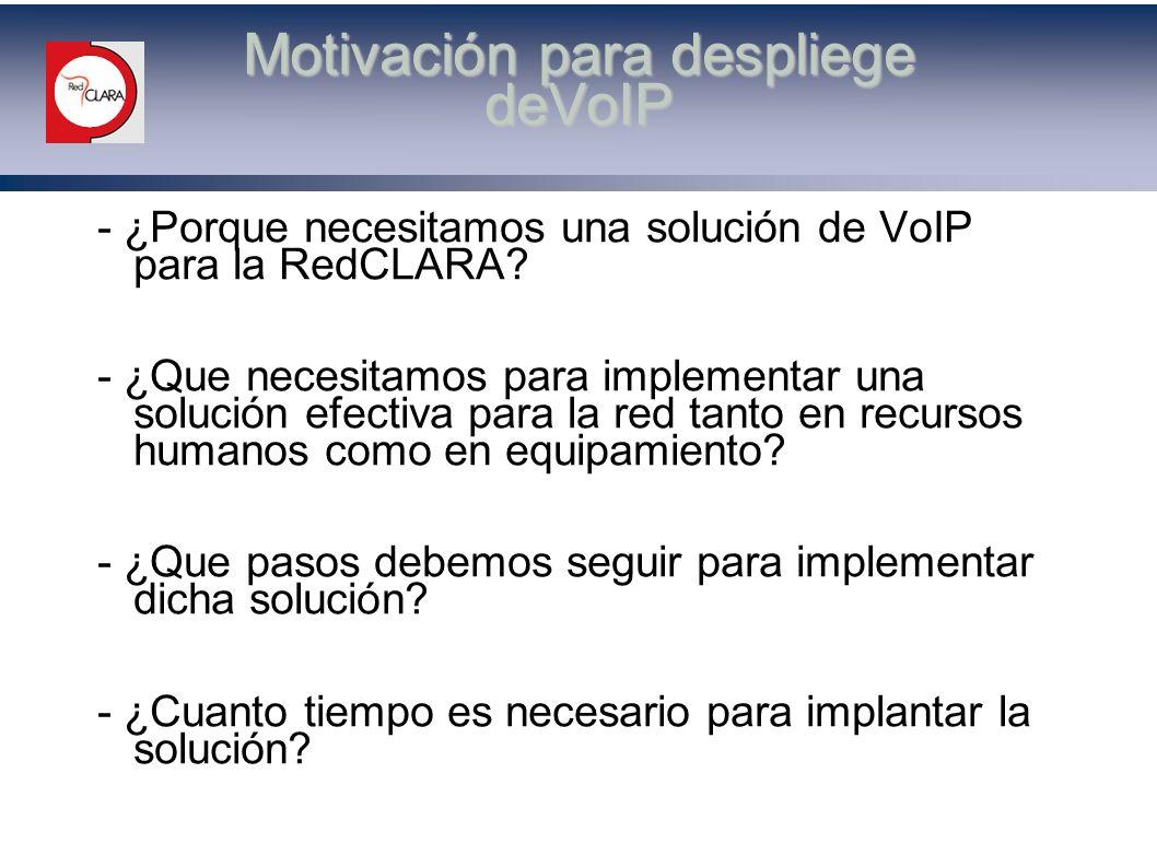 ¿Porque necesitamos una solución de VoIP para la RedCLARA.