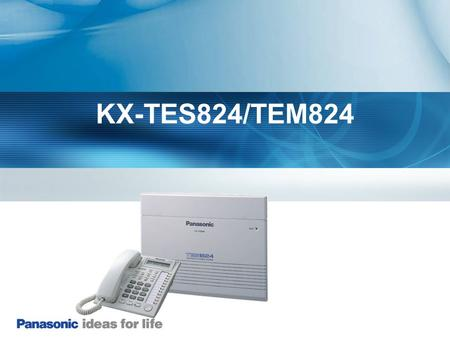 KX-TES824/TEM824 explain about TDA100D. Contents are following.