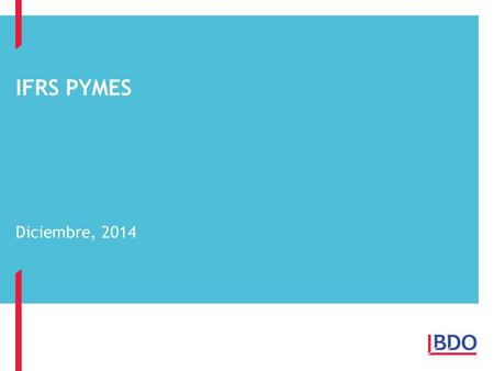 Ifrs pymes Diciembre, 2014 1.