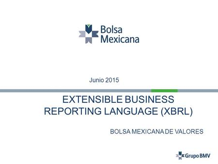 EXTENSIBLE BUSINESS REPORTING LANGUAGE (XBRL) BOLSA MEXICANA DE VALORES 2011 Junio 2015.