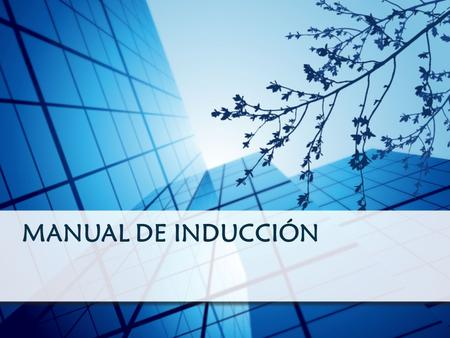 MANUAL DE INDUCCIÓN.