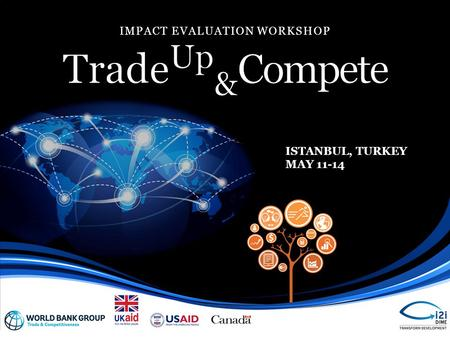 IMPACT EVALUATION WORKSHOP ISTANBUL, TURKEY MAY 11-14.