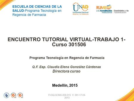 ENCUENTRO TUTORIAL VIRTUAL-TRABAJO 1- Curso
