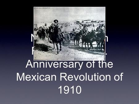 Nov 20 Mexican Revolution Day. Anniversary of the Mexican Revolution of 1910.