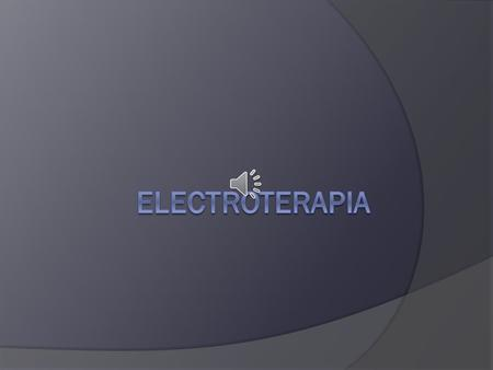 Electroterapia.