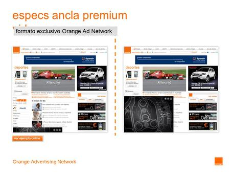 Orange Advertising Network especs ancla premium video formato exclusivo Orange Ad Network.