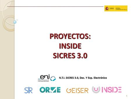PROYECTOS: INSIDE SICRES 3.0
