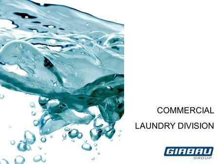 COMMERCIAL LAUNDRY DIVISION. GROWING TOGETHER 0. INDICE OTROS 1.Lavadoras centrifugadoras 2. Modelos y versiones Product range HS High Speed MG High.
