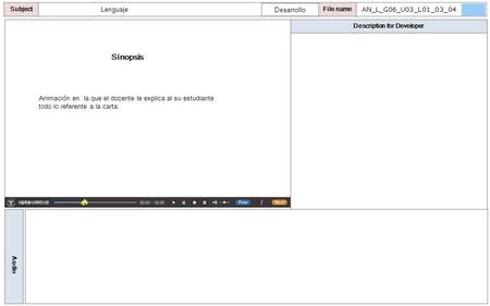 Description for Developer Audio SubjectLO File name Sinopsis Animación en la que el docente le explica al su estudiante todo lo referente a la carta. AN_L_G06_U03_L01_03_04.