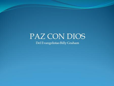 Del Evangelistas Billy Graham