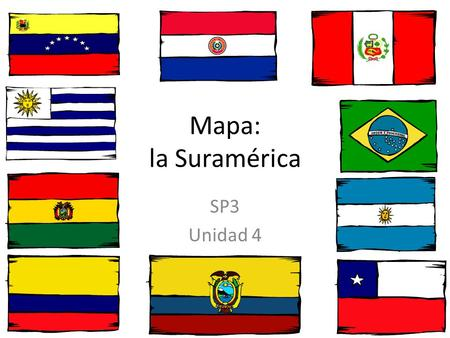 Mapa: la Suramérica SP3 Unidad 4. Información Importante South America is home to the world's highest waterfall, Angel Falls in Venezuela; the largest.