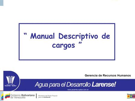 """ Manual Descriptivo de cargos """