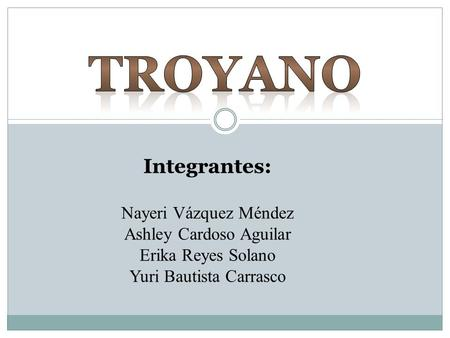 TROYANO Integrantes: Nayeri Vázquez Méndez Ashley Cardoso Aguilar